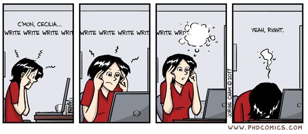 Write write write - PHD humor